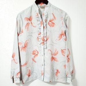 Sale 4/$30 Koret Ruffle Button Down Blouse